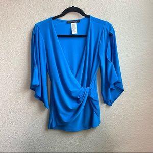 Coco Bianco blue twist blouse